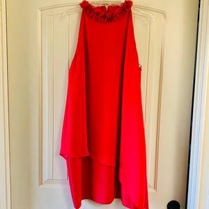 Alex Marie Floral Ruffle Mock Shift Dress